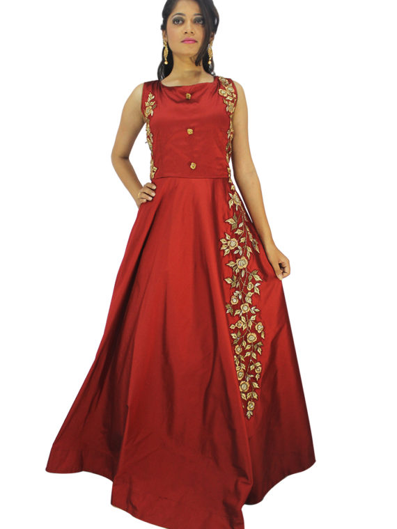 red gown-2